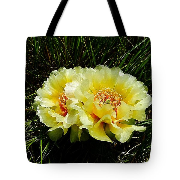 Plains Prickly Pear Cactus Tote Bag by Blair Wainman