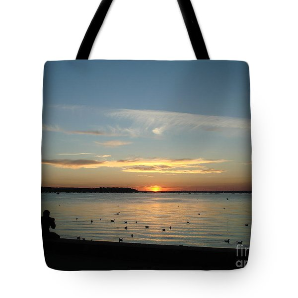 Tote Bag featuring the photograph Enjoy by Katy Mei