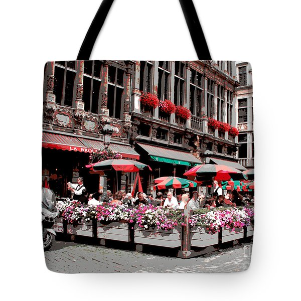 Enjoying The Grand Place Tote Bag by Carol Groenen