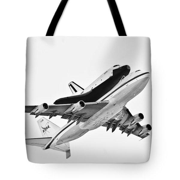 Enterprise Shuttle Ny Flyover Tote Bag by Regina Geoghan