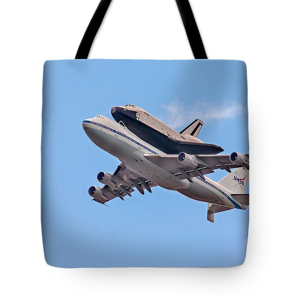 Enterprise Space Shuttle  Tote Bag by Susan Candelario