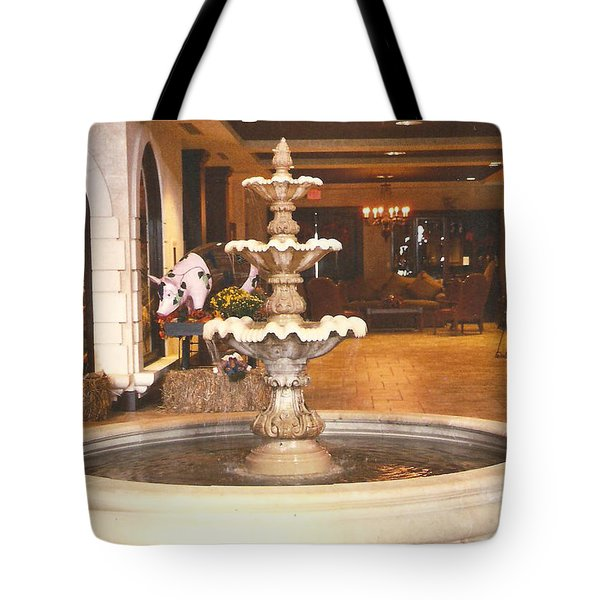 Entrance To Childress Vineyards Tote Bag