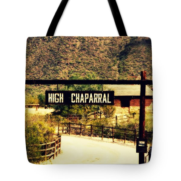 Entrance To The High Chaparral Ranch Tote Bag by Susanne Van Hulst