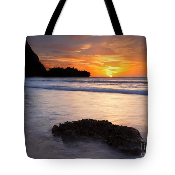 Enveloped By The Tides Tote Bag by Mike  Dawson