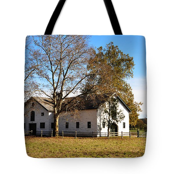 Equestrian Stable Erdenheim Farm Tote Bag by Bill Cannon