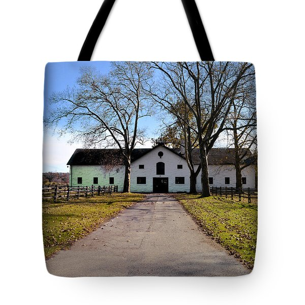 Erdenheim Farm Equestrian Stable Tote Bag by Bill Cannon