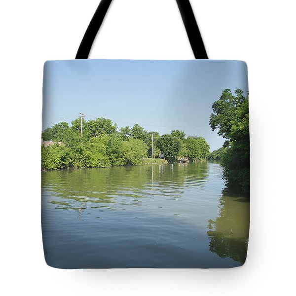 Tote Bag featuring the photograph Erie Canal by William Norton