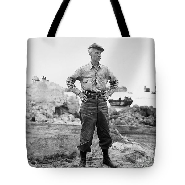 Ernie Pyle (1900-1945). American Journalist. Photograph, C1942 Tote Bag by Granger