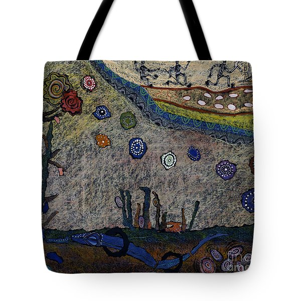 Escaping Death Tote Bag by Pat Saunders-White