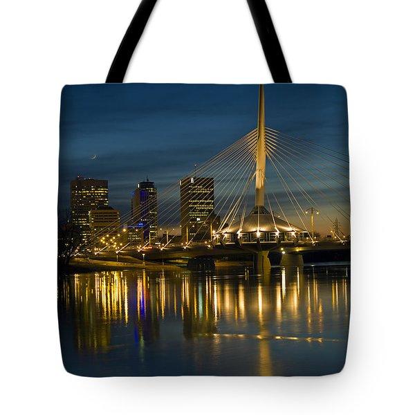 Esplanade Bridge Over Red River Tote Bag by Mike Grandmailson