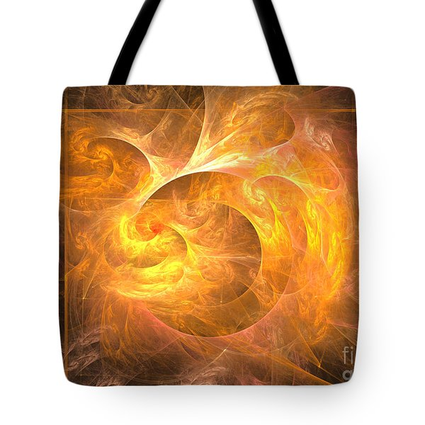 Eternal Flame - Abstract Art Tote Bag