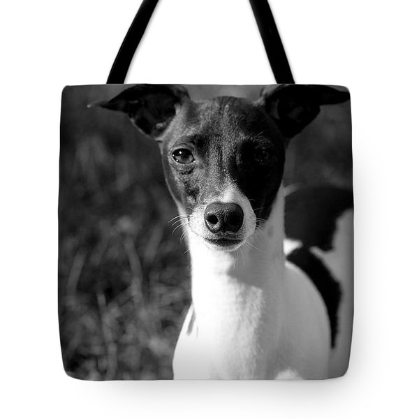 Ethan In Black And White Tote Bag