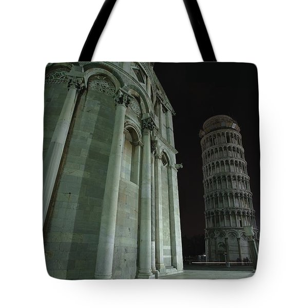 Ethereal Moonlight Scene Of Duomo Santa Tote Bag by Carson Ganci
