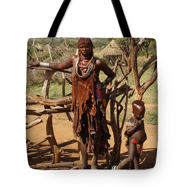 Ethiopia-south Mother And Baby No.2 Detail B Tote Bag by Robert SORENSEN