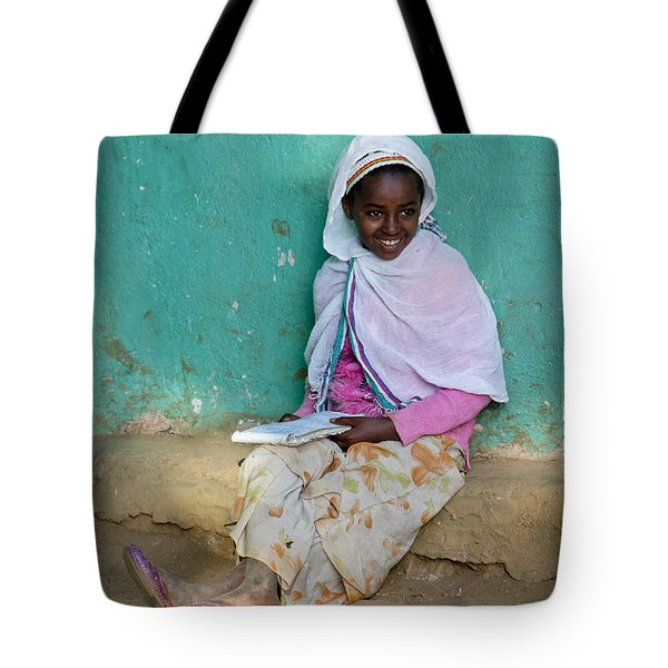 Ethiopia-south School Girl Tote Bag by Robert SORENSEN