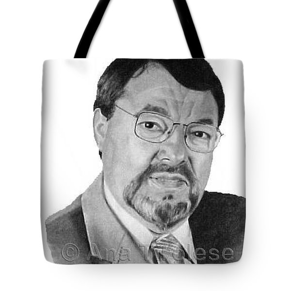 Tote Bag featuring the drawing Euclides Cavaco by Ana Tirolese