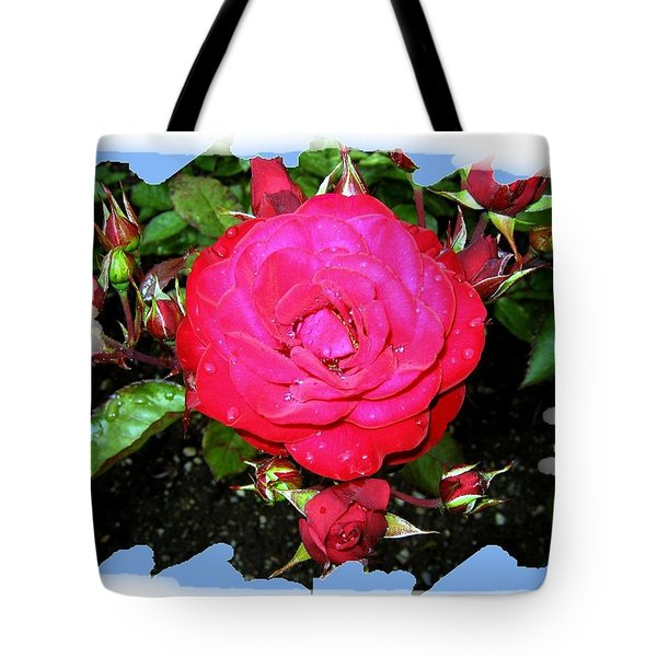 Europeana Roses And Raindrops Tote Bag by Will Borden