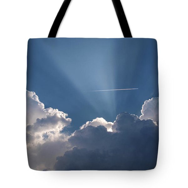 Even Through The Clouds You Will Find A Ray Of Sunshine Tote Bag
