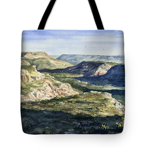 Evening Flight Over Palo Duro Canyon Tote Bag