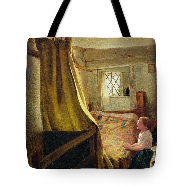 Evening Prayer  Tote Bag by John Bagnold Burgess
