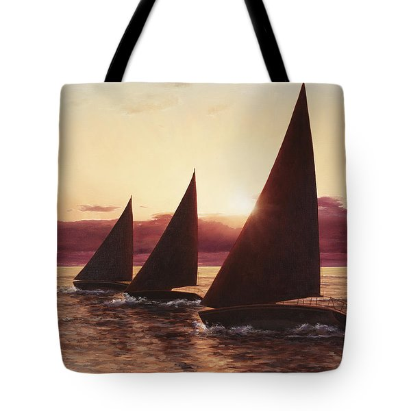 Evening Sails Tote Bag