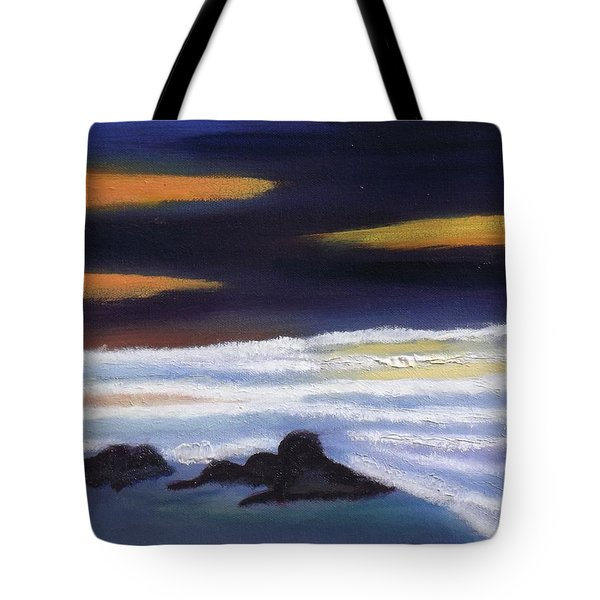 Evening Sunset On Beach Tote Bag by Margaret Harmon