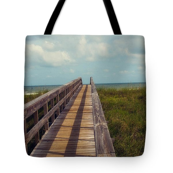Evening Walk To The Beach Tote Bag by Toni Hopper