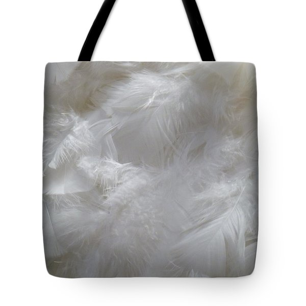 Tote Bag featuring the painting Evidence Of Angels by Newel Hunter