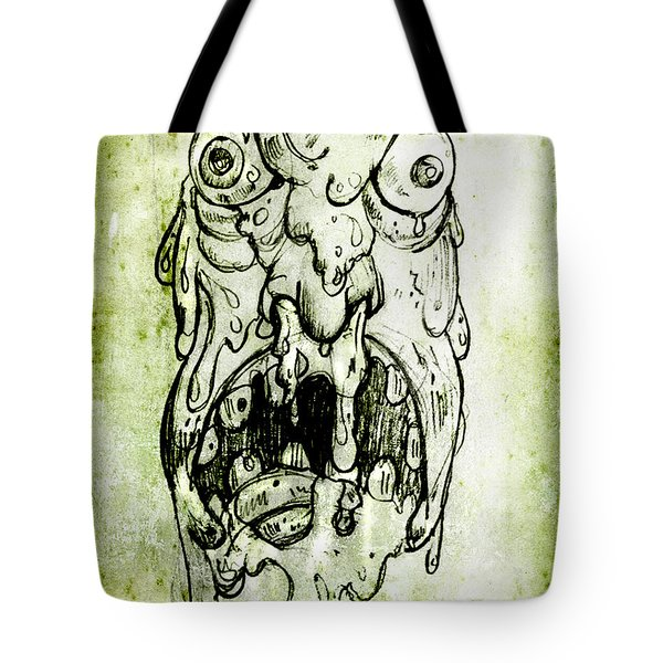 Evil Snot Monster Tote Bag