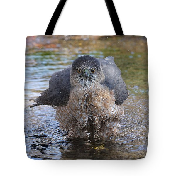 Excuse Me But I Am Bathing Here. Tote Bag