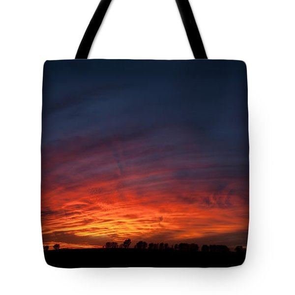 Expansive Sunset Tote Bag by Art Whitton