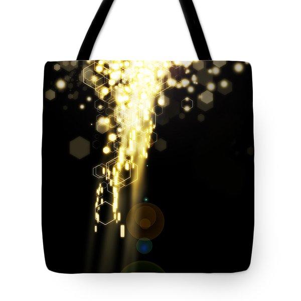 Explosion Of Lights Tote Bag by Setsiri Silapasuwanchai