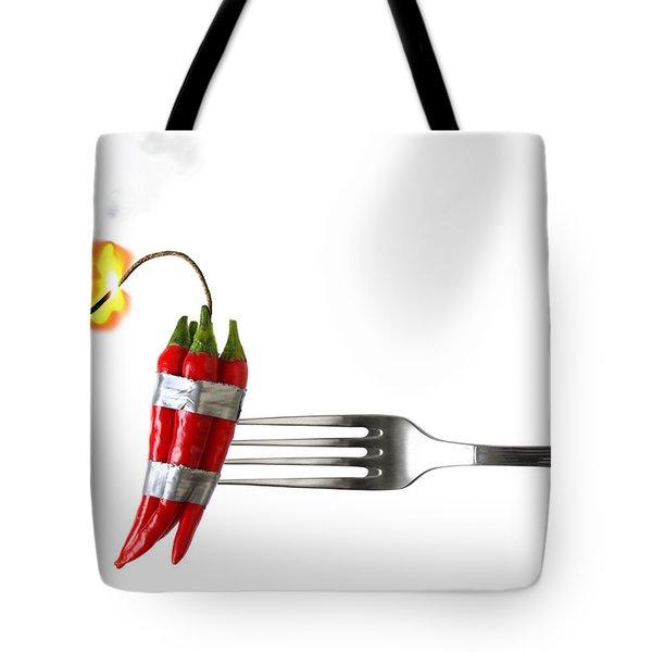 Explosive Food Tote Bag by Carlos Caetano