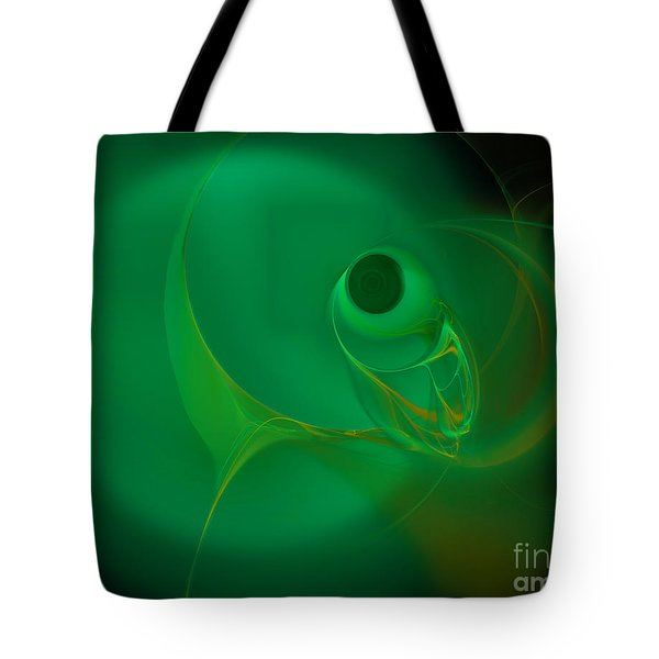 Tote Bag featuring the digital art Eye Of The Fish by Victoria Harrington