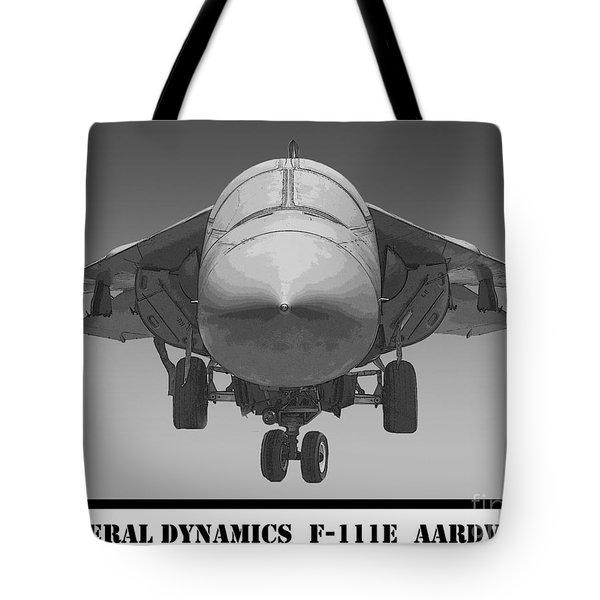 F-111e Aardvark Drawing Tote Bag by Tim Mulina
