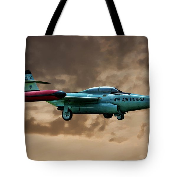 F-89 Scorpion Tote Bag by Tommy Anderson