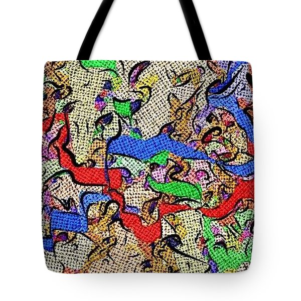 Tote Bag featuring the digital art Fabric Of Life by Alec Drake