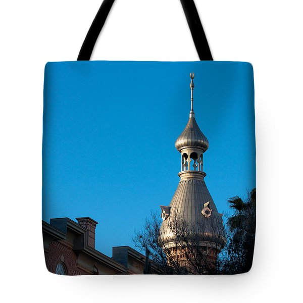 Tote Bag featuring the photograph Facade And Minaret by Ed Gleichman