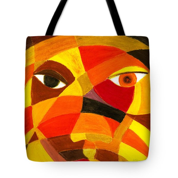 Face 45 Tote Bag by Hakon Soreide