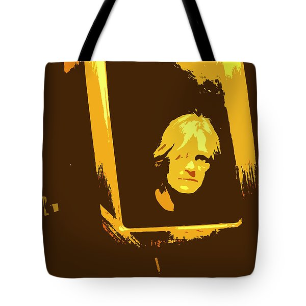 Face In The Mirror Tote Bag by Anne Mott
