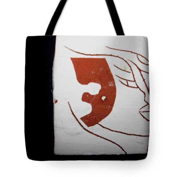 Faces - Tile Tote Bag by Gloria Ssali
