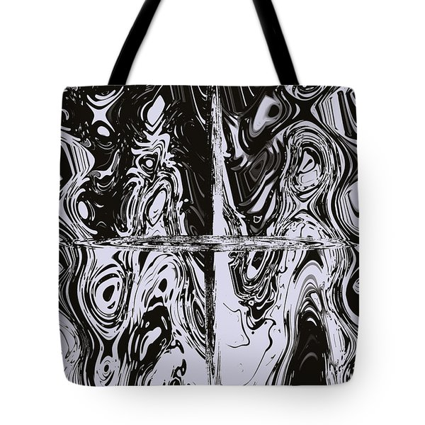 Faces Of Tormented Souls Tote Bag by DigiArt Diaries by Vicky B Fuller