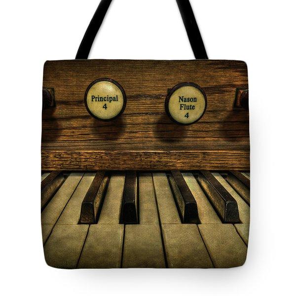 Facing The Music Tote Bag by Evelina Kremsdorf