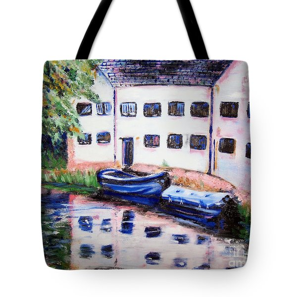 Factory On The River Tote Bag