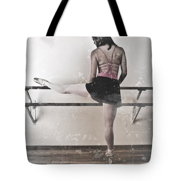 Faded Ballerina Tote Bag by Scott Sawyer