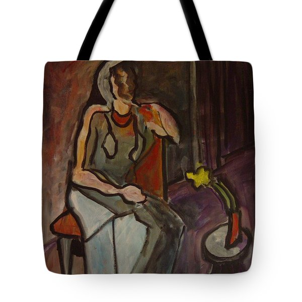 Fading Flower Tote Bag by Leon Sarantos