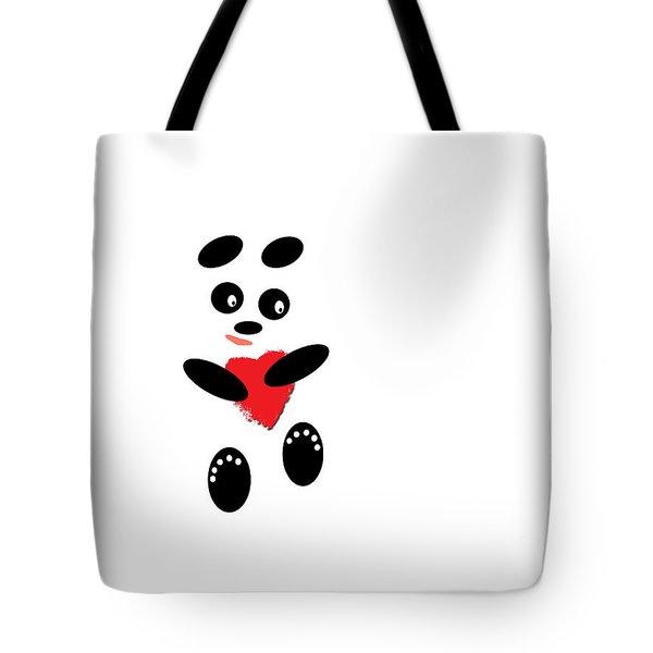Fading Like A Flower. Panda In Love. #01 Tote Bag by Ausra Huntington nee Paulauskaite