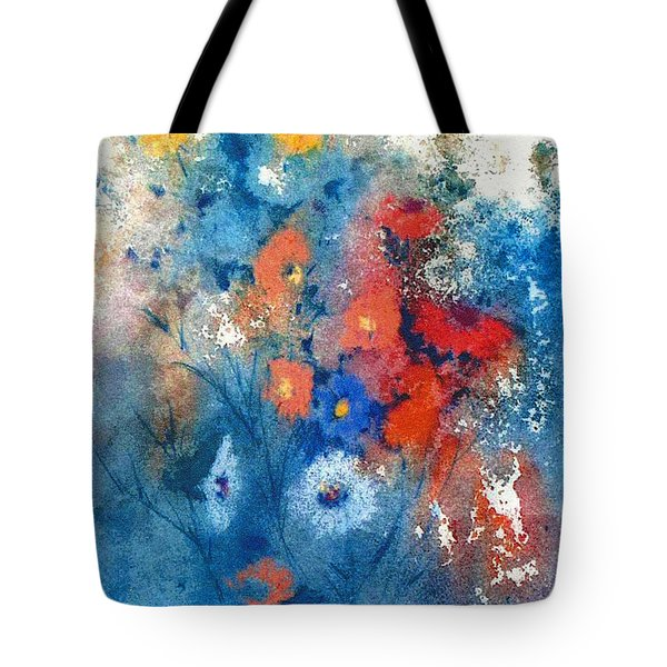 Tote Bag featuring the painting Faerie Flowers by Joan Hartenstein