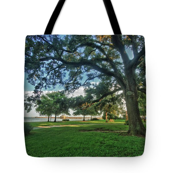 Fairhope Lower Park 4 Tote Bag by Michael Thomas