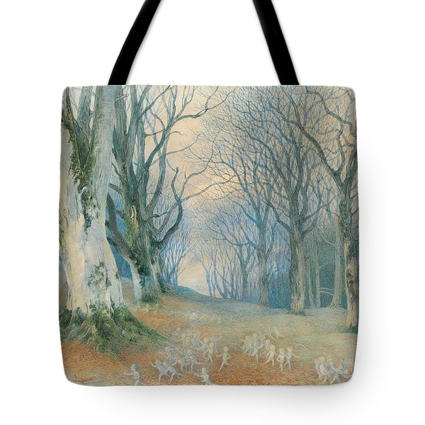 Fairies And Squirrels Tote Bag by Richard Doyle